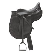 "Saddle set pony black 160 "" saddle girth 95 cm"